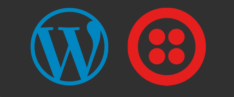 WordPress and Twilio logos