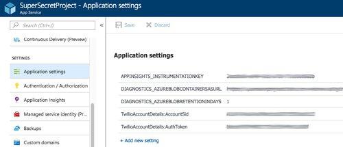 User Secrets in a  NET Core Web App - Twilio