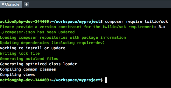 Getting Started with Twilio and the Laravel framework for