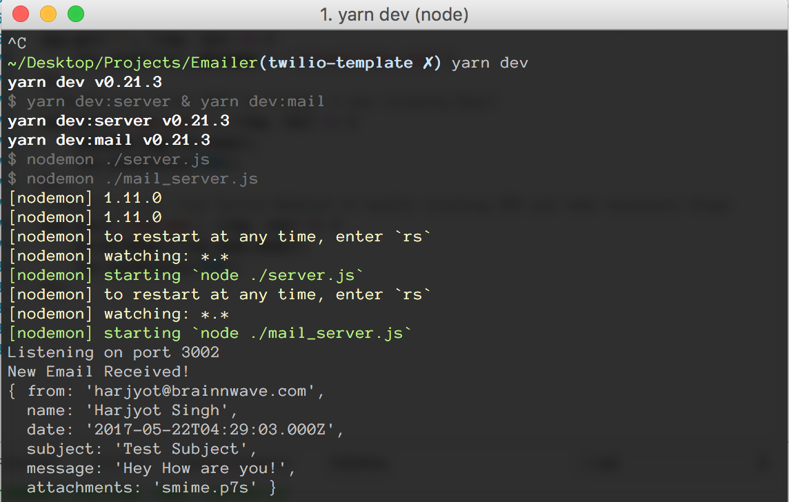 How to Forward Emails to SMS using Node js - Twilio