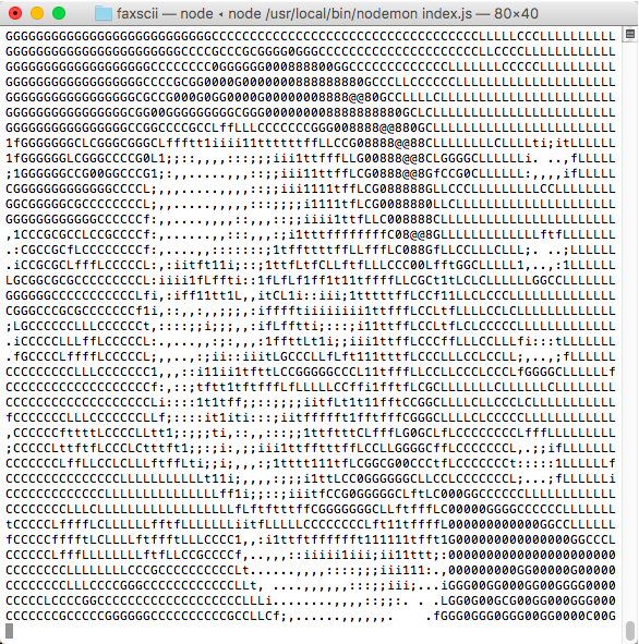Faxing ASCII Images using Node and Twilio Programmable Fax