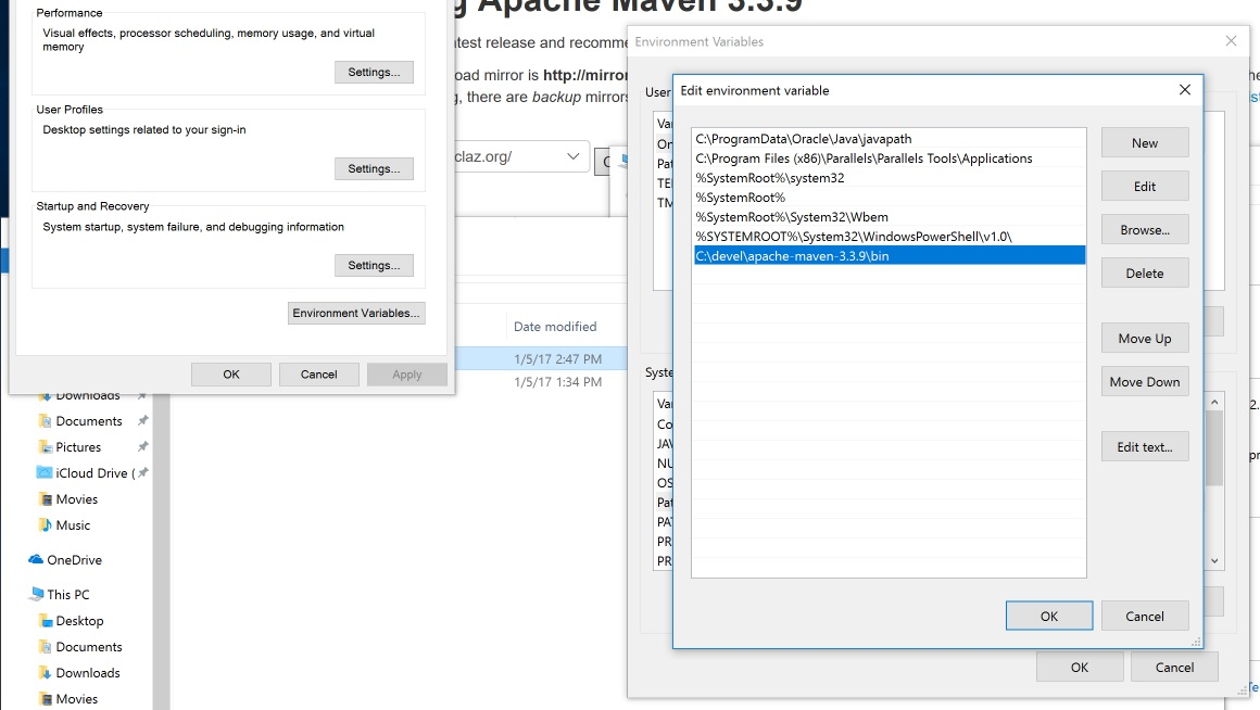 Add Maven to PATH environment variable.