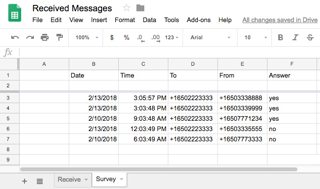 How to Receive SMS Messages into Google Sheets with Apps