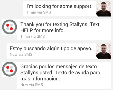 Using Natural Language Processing for Better SMS Interfaces