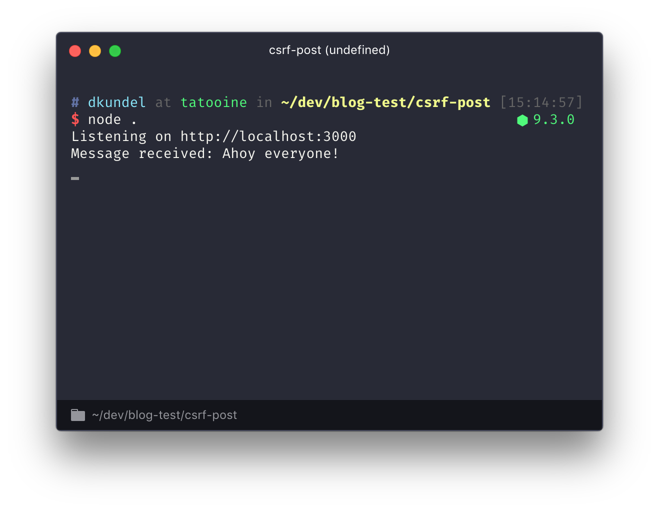 Going surfing – Protect your Node js app from Cross-Site