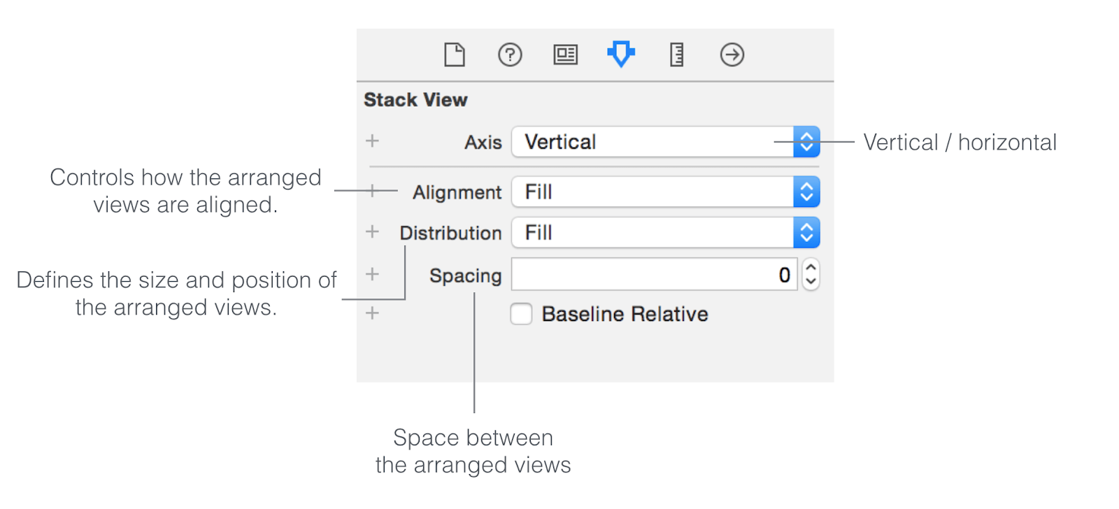 how to use stack view xcode