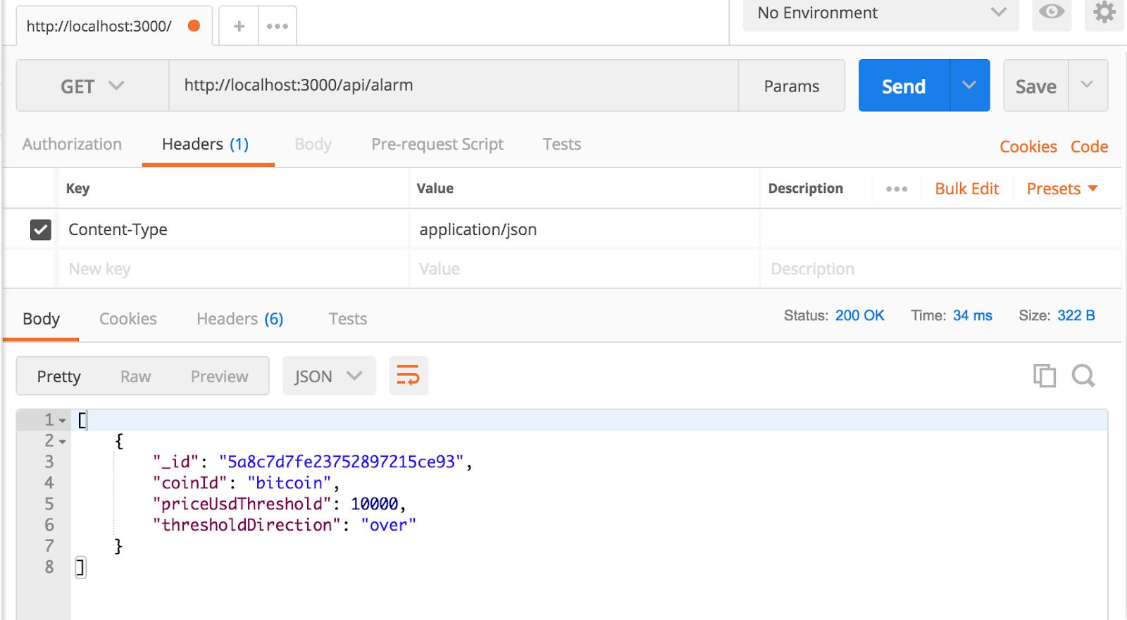 Tracking Cryptocurrencies via SMS Alarms using JavaScript