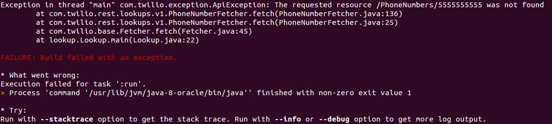 Verify Phone Numbers with Java and the Twilio Lookup API - Twilio