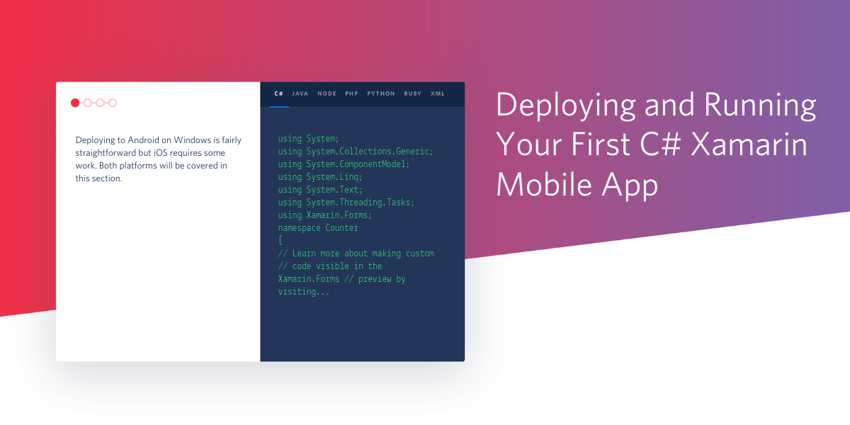 Deploying and Running Your First C#  NET Xamarin Mobile App - Twilio