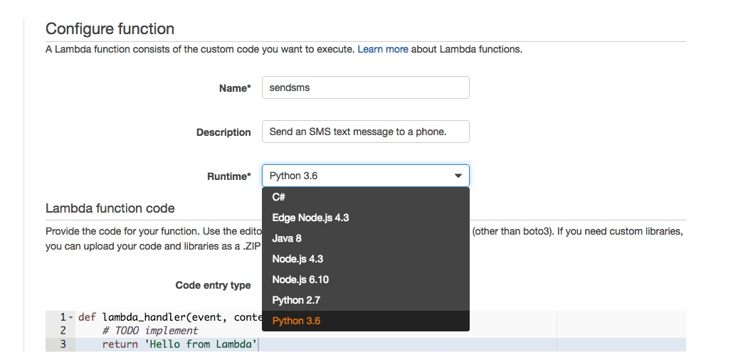How to Send SMS Text Messages with AWS Lambda and Python 3 6 - Twilio
