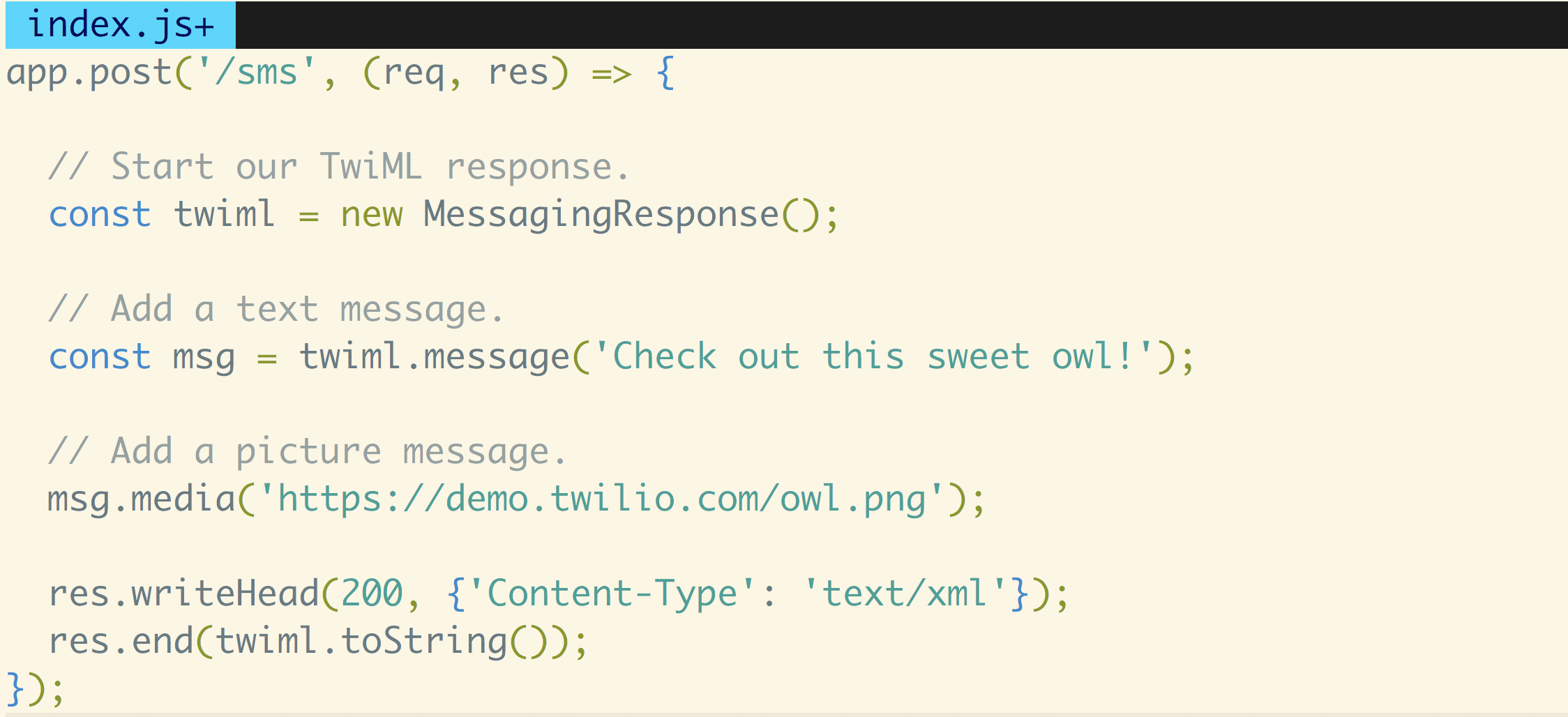 How to Receive and Respond to Text Messages with Node js