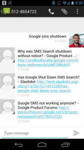 Twilio Google SMS