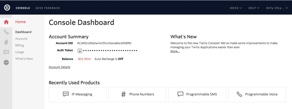 console-dashboard