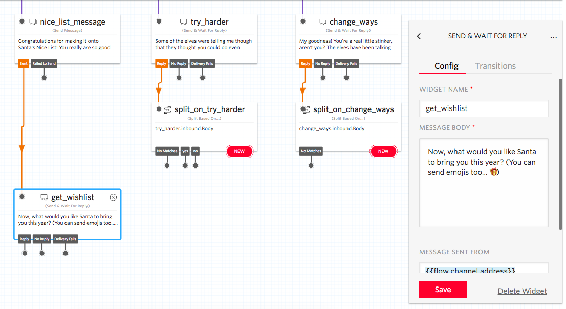 send and wait for reply widget in twilio studio