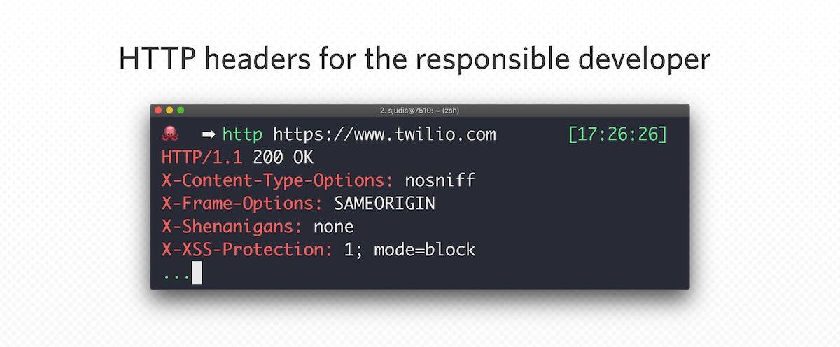 HTTP headers for the responsible developer - Twilio