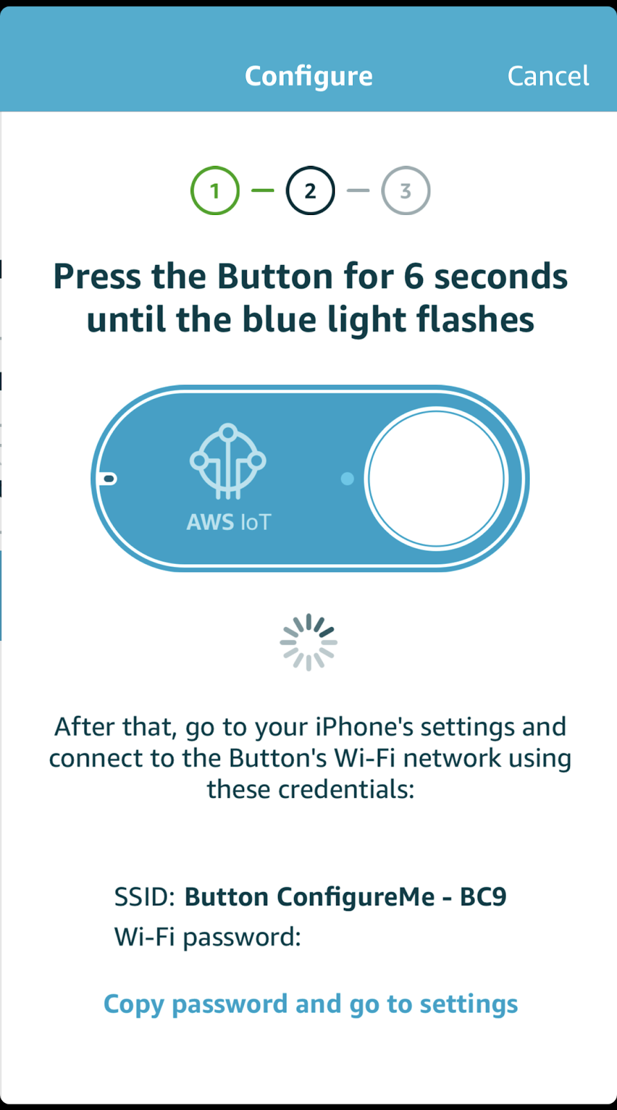 Pairing process for a phone and Amazon IoT button