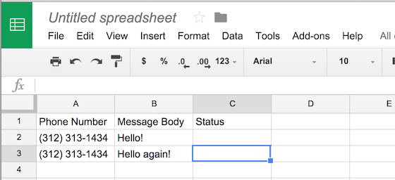 How to Send SMS from a Google Spreadsheet - Twilio