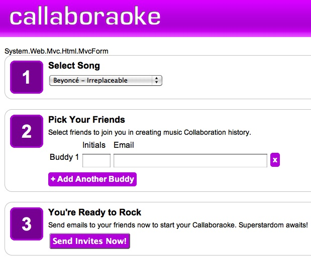 Callaboroake Screenshot
