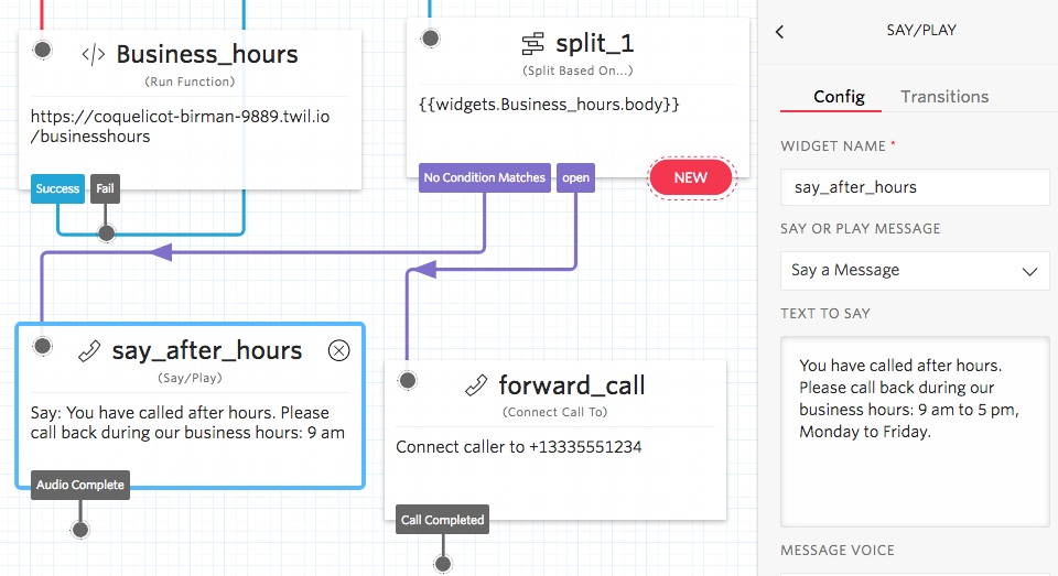 Using Twilio Functions to Add Custom JavaScript Code in Studio Flows
