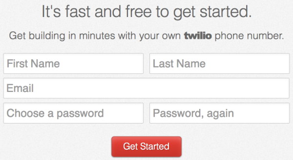 try twilio for free
