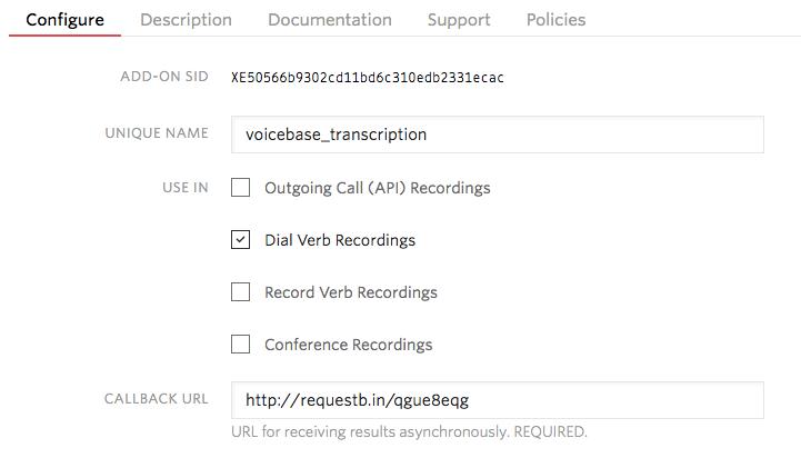 voicebase-configure-dial-verb
