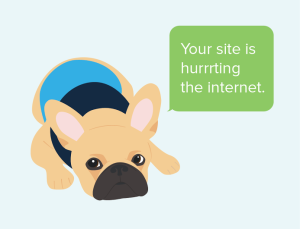 your site is hurting the internet
