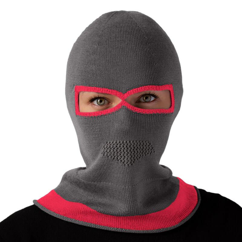 Eyemask gray pink balaclava
