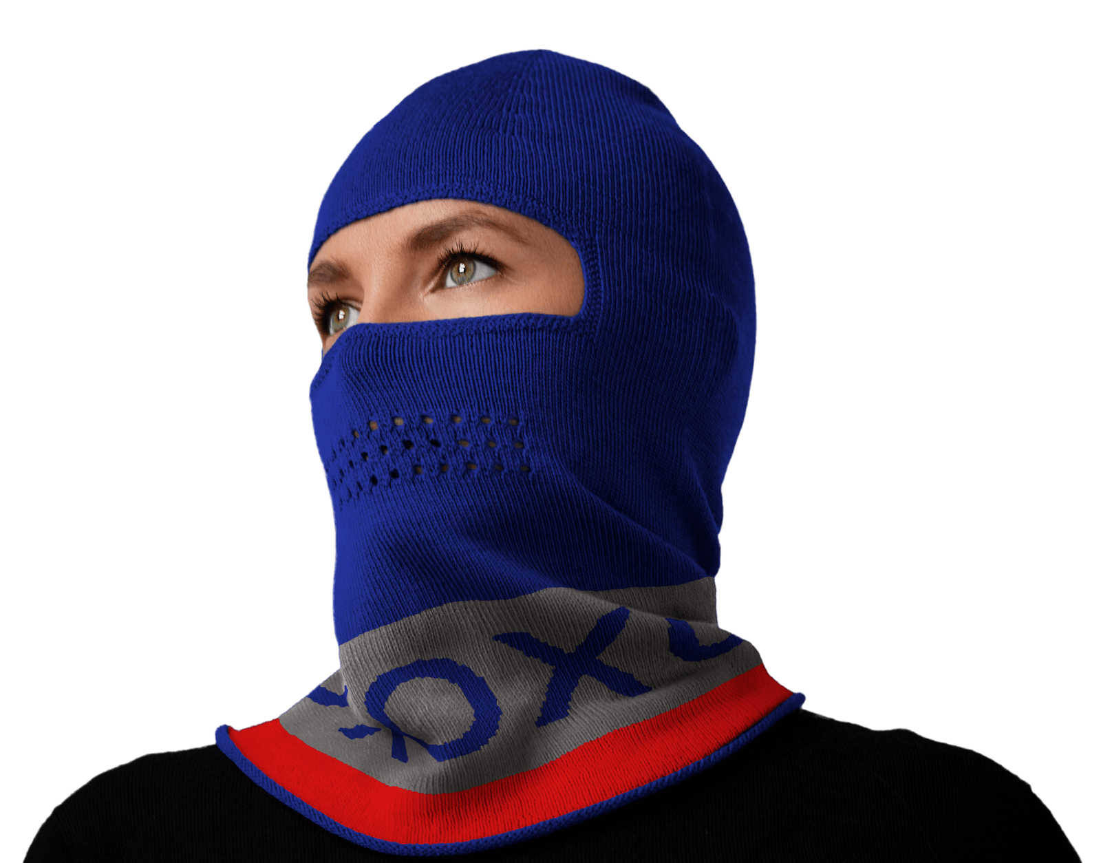 Royal gray red xoxo balaclava hero