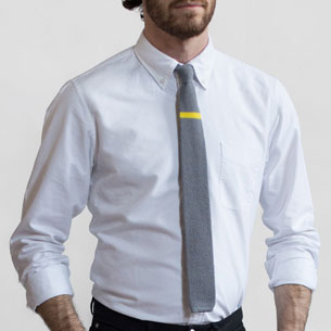 Jdxtf gray yellow knit tie