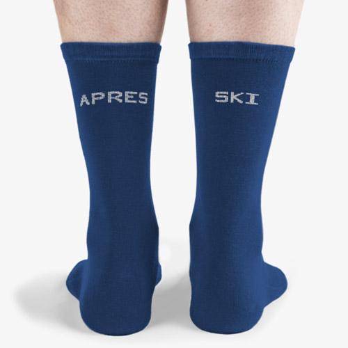 Standard royal and white apres ski socks