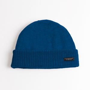 Teal merino wool knit hat