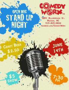 Open Mic Stand Up at ComedyWorx (06/14/2018)