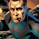 Reed Richards (Blue-and-Black Costume with a circle on Chest)