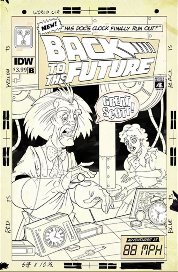 Back to the Future: Time Train #1 Cover B Murphy Artist Edition
