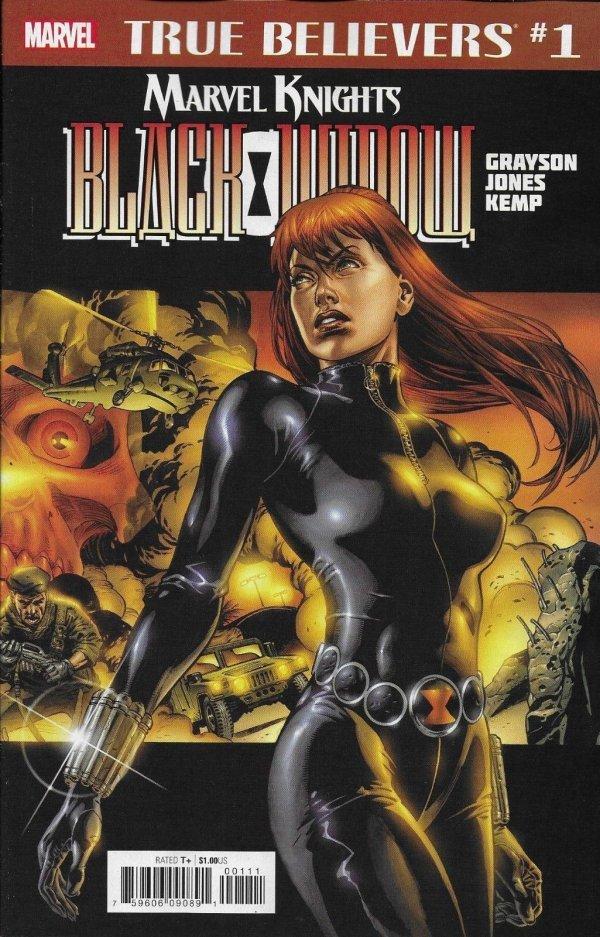 True Believers: Marvel Knights 20th Anniversary - Black Widow By Grayson & Jones #1