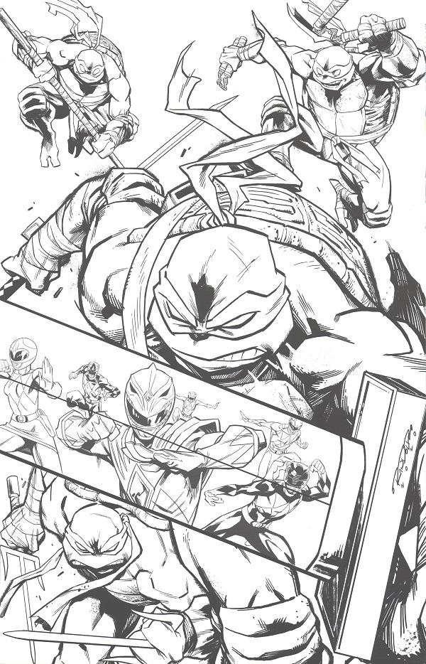Mighty Morphin Power Rangers / Teenage Mutant Ninja Turtles #4