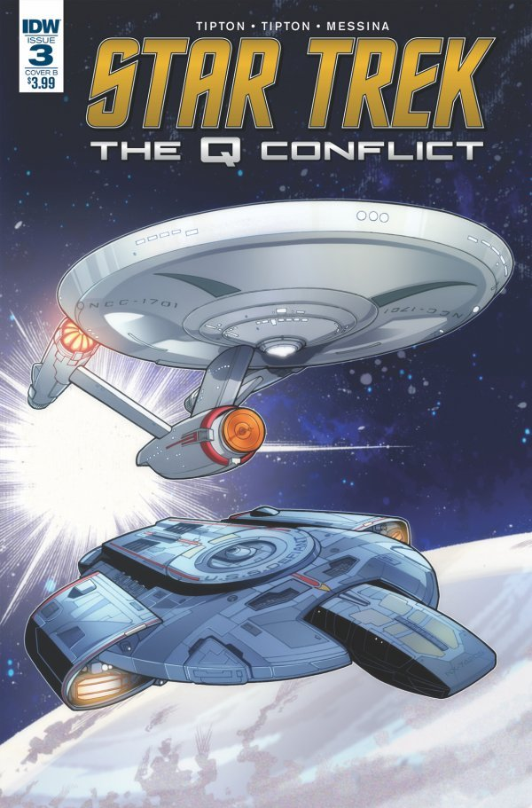 Star Trek: The Q Conflict #3 Cover B Messina