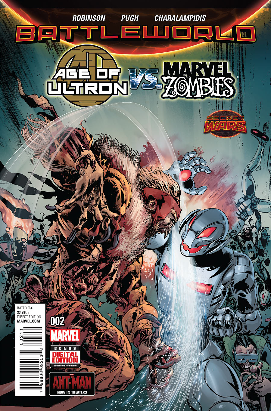 Marvel Zombies #2 2015 NM-M First Printing Marvel Comics Age of Ultron vs