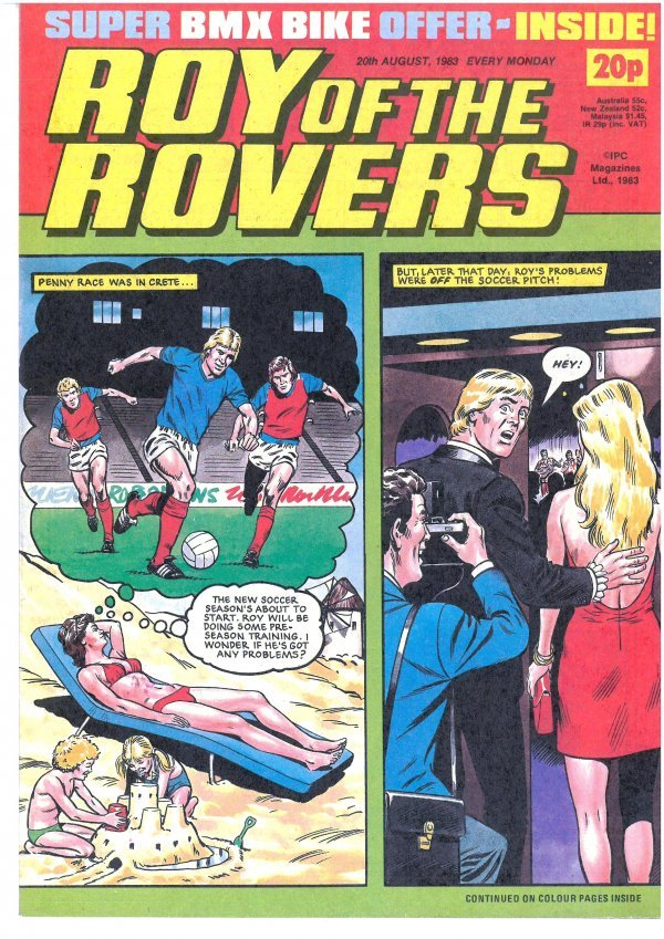 Roy of the Rovers #August 20th, 1983 Reviews
