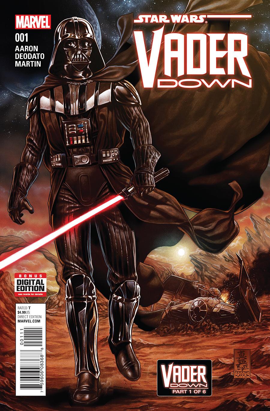 Star Wars Vader Down #1 Blank Variant Marvel Comics 2015