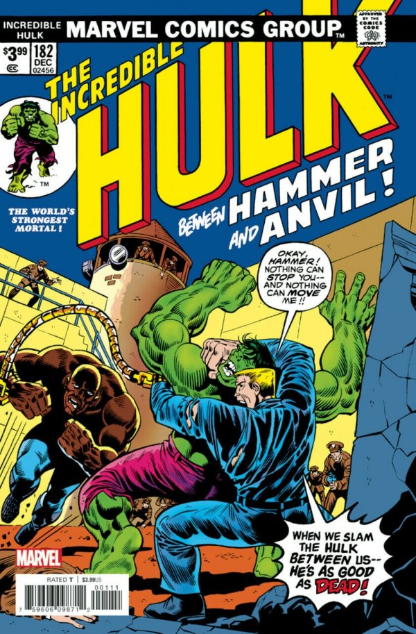 The Incredible Hulk #182 Facsimile Edition