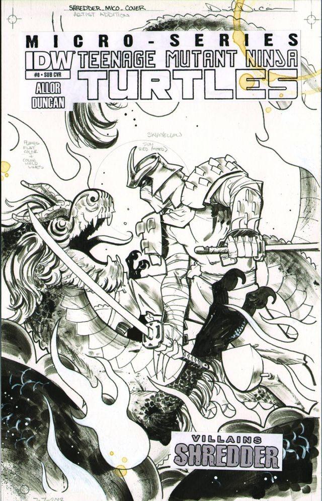 Teenage Mutant Ninja Turtles: Villains Micro-Series #8 Shredder Subscription Variant