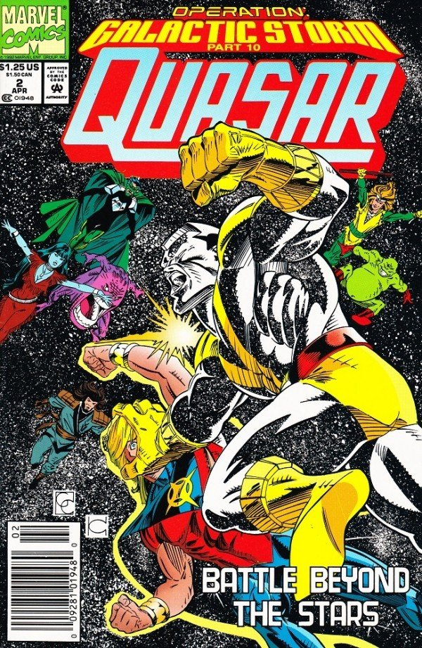 Quasar #2 (News Stand Version of Issue #33 for Galactic Storm Crossover)