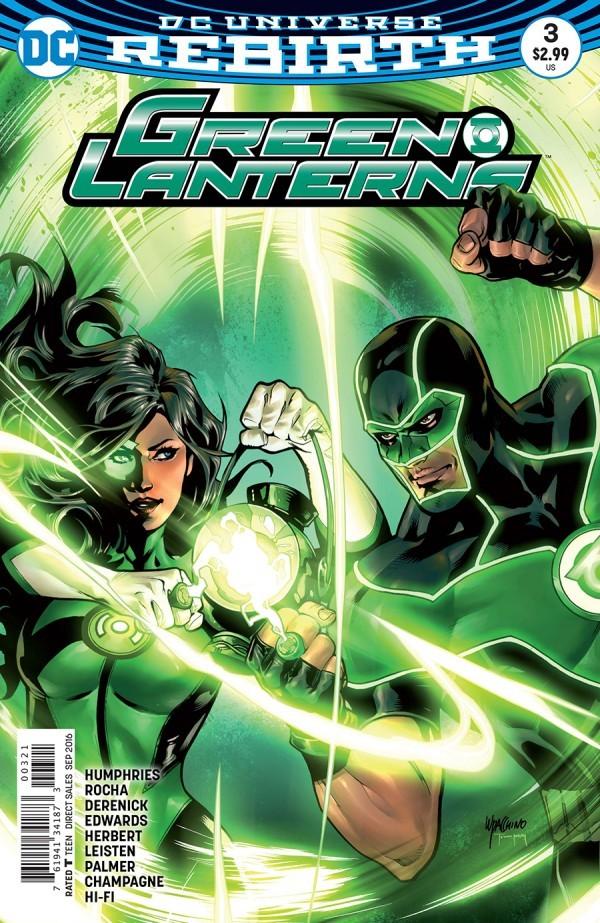 Robson Rocha Regular Cover 1st Print DC Green Lanterns 1 # 2 Vol