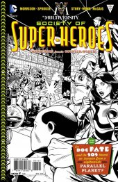 The Multiversity: The Society of Super-Heroes: Conquerors of the Counter-World #1 Black & White Variant