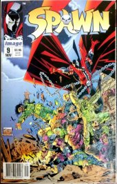 Spawn #11 Newsstand Edition Misprint (#9 Printed on #11 Cover)