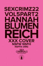 Sex Criminals #22 Xxx Hannah Blumenreich Variant