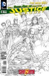 Justice League #8 Black & White Variant Edition
