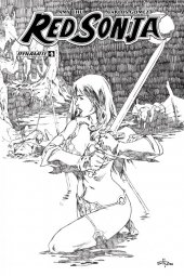 Red Sonja #21 1:30 Royle B&w Cover