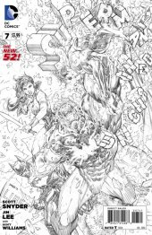 Superman Unchained #7 Jim Lee Black & White Variant Edition